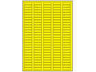 Yellow polyester laser labels, 10mm x 32mm