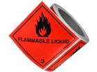 Flammable liquid, class 3, hazard diamond label