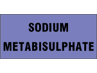 Sodium metabisulphate pipeline identification tape.