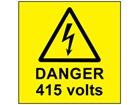 Danger 415 volts label