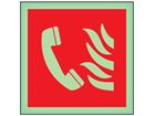Fire telephone symbol photoluminescent safety sign