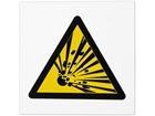 Risk of explosion symbol safety sign.