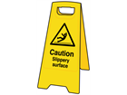 A-board, caution slippery surface