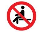Do not sit on symbol label