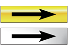 Directional arrow (right or left) metal doorplate
