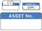 Asset number write and seal labels.