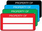 Property asset label, not numbered, destructible