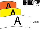 Dymo Rhino vinyl tape (12mm)