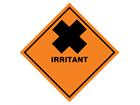 Irritant hazard warning diamond sign