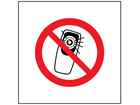 No mobile phones with cameras symbol safety sign.