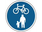 Pedal cycle and pedestrian route sign