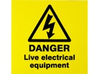 Danger live electrical equipment label