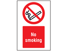 No smoking symbol and text safety sign.