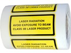 Laser radiation avoid exposure to beam, class 3b laser equipment warning safety label.