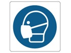 Wear face protection symbol label.