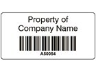 Scanmark+ barcode label (black text), 19mm x 38mm