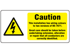 New build distribution board label