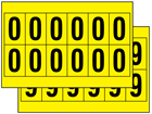 Multipurpose number set, 38mm x 21mm