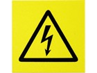 Electrical voltage symbol label