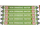 Non drinking water flow marker label.