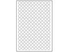Paper laser and inkjet labels, 15mm diameter.