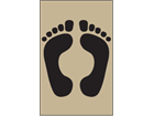 Footprints symbol heavy duty stencil