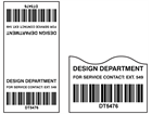 Scanmark cable wrap barcode label (black text), 100mm x 50mm