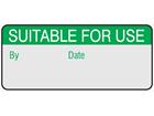 Suitable for use aluminium foil labels.