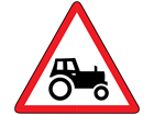 Farm machinery route ahead sign