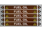Fuel oil flow marker label.