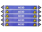 Acid flow marker label.