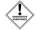 Dangerous substance hazard warning diamond sign