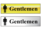 Gentlemen metal doorplate