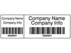Scanmark dual barcode label (black text), 20mm x 60mm