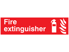 Fire extinguisher, mini safety sign.