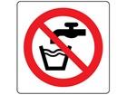 Not drinking water symbol label.