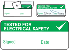 Tested for electrical safety write and seal label.