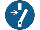 Disconnect before carrying out maintenance symbol labels.