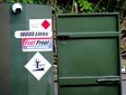 Marine pollutant, hazard diamond Sign