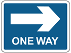 Right only (One way) sign