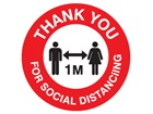 Thank you for social distancing, one metre