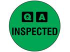 QA Inspected label