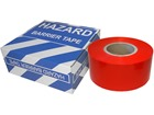 Red plain barrier tape.