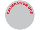 Calibration due aluminium foil labels.