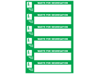 Waste segregation label