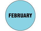 February inventory date label