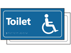 Disabled toilets sign.