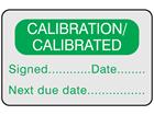 Calibration / calibrated label
