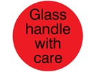 Glass handle with care packaging label