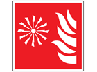 Fire alarm symbol safety sign.